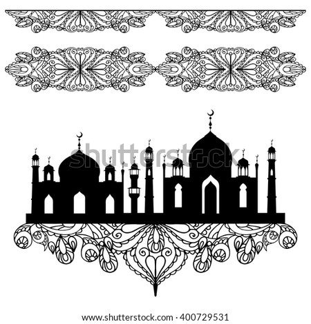 islamic arabic mosque seamless