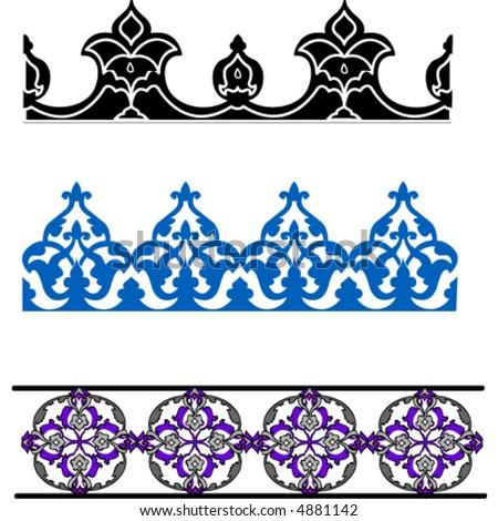 Free Vector on Islamic Art Borders Stock Vector 4881142   Shutterstock