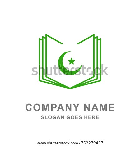 Islamic Book Library Logo Vector Icon