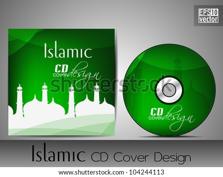stock-vector-islamic-cd-cover-design-with-mosque-or-masjid-silhouette ...