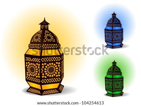 Islamic lamp for Ramadan / Eid Celebrations - Vector Illustration