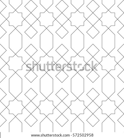 islamic line pattern seamless