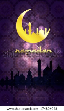 Islamic mosque background for Ramadan Kareem