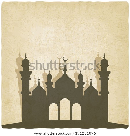 Islamic mosque old background vector illustration eps 10