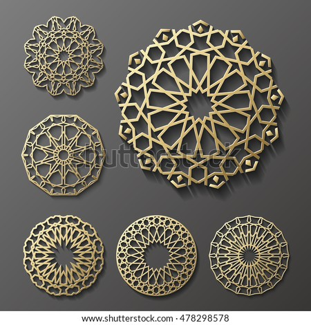 stock-vector-islamic-ornament-vector-persian-motiff-d-ramadan-islamic-round-pattern-elements-geometric
