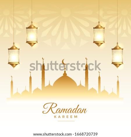 islamic ramadan kareem season festival card design