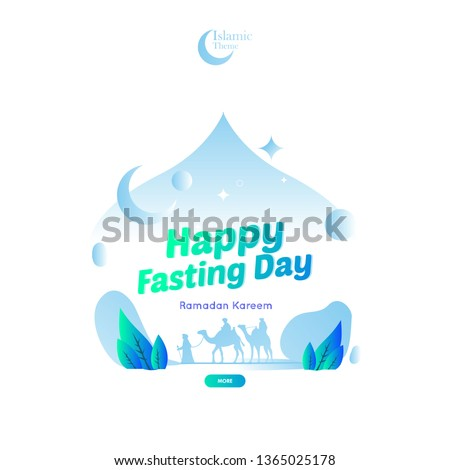 Islamic Ramadan Theme Greeting For Fasting Day