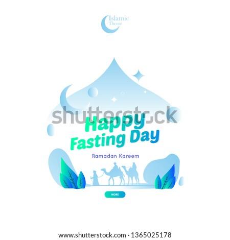 Islamic Ramadan Theme Greeting For Fasting Day