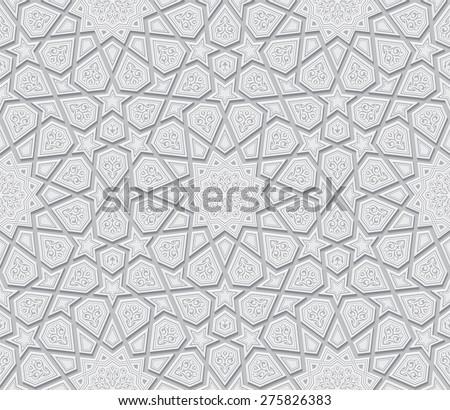 stock vector islamic star ornament light grey background vector illustration 275826383 - Каталог — Фотообои «3D Текстуры»
