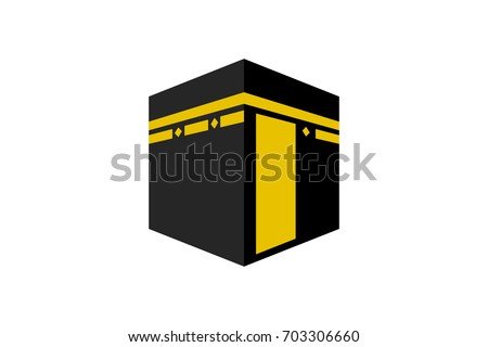 islamic vector design kaaba in