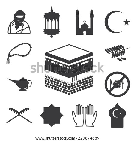 islamic website icons set eps