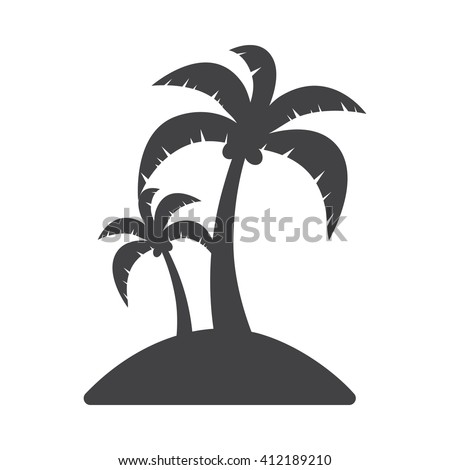 island icon vector illustration