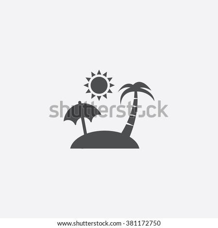 island icon vector island icon