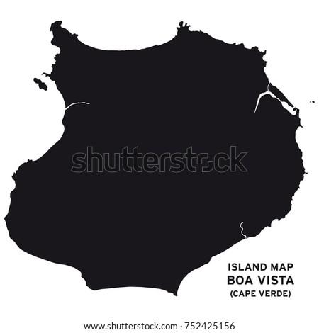 island map of boa vista  cape