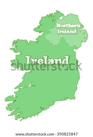 island of ireland map of