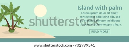 island with palm banner