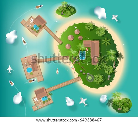 islands top view for interior