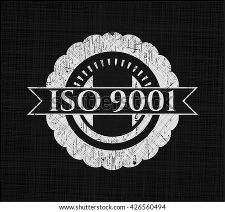 ISO 9001 chalk emblem