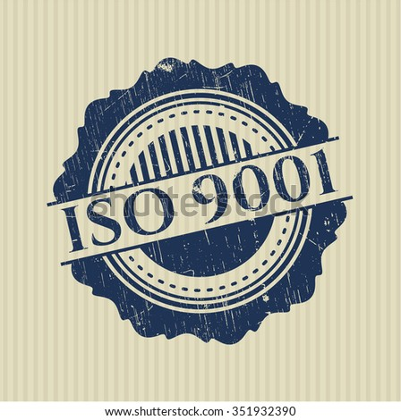 ISO 9001 rubber seal with grunge texture