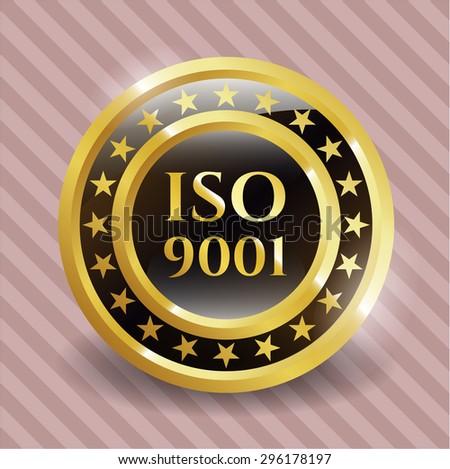 ISO 9001 shiny badge