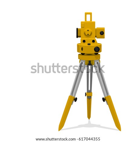 Isolate icon of theodolite on transparent background