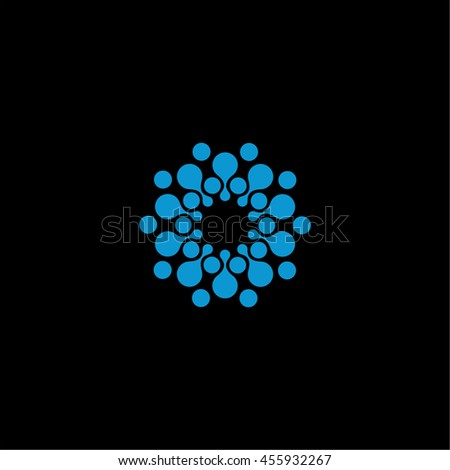 isolated abstract blue color