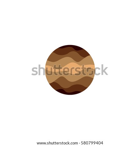 isolated abstract brown color