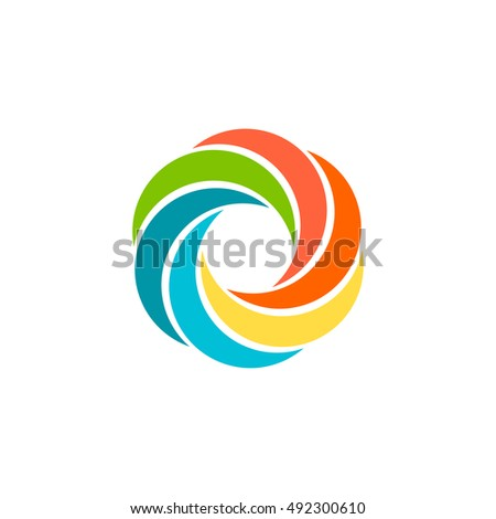 isolated abstract colorful