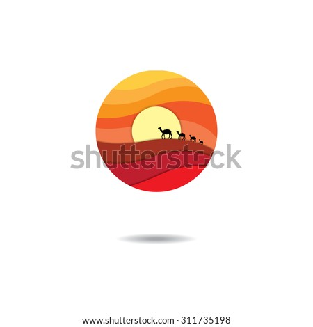 isolated abstract desert logo