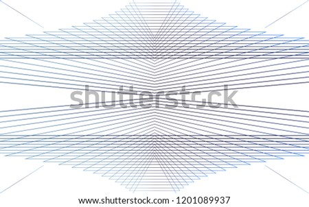 Stock Photo Isolated, Abstract Geometric Expansion Background Wallpaper Design Vector Graphic, Dark Blue on White #4, Triangle Shape, Line Iterations, Expanding, Modern, Digital, Techie, Balance Horizon Pattern