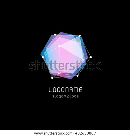 isolated abstract hexagon