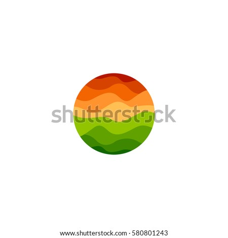 isolated abstract orange and