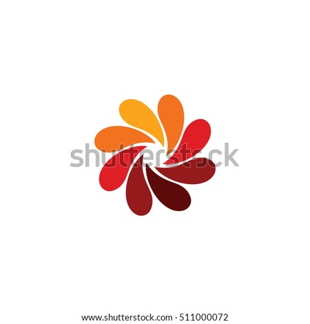 isolated abstract red flower