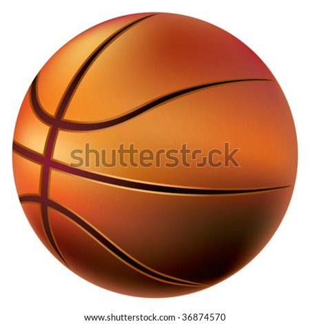 basketball ball wallpaper. asketball ball on white.