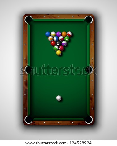 isolated billiard table  top