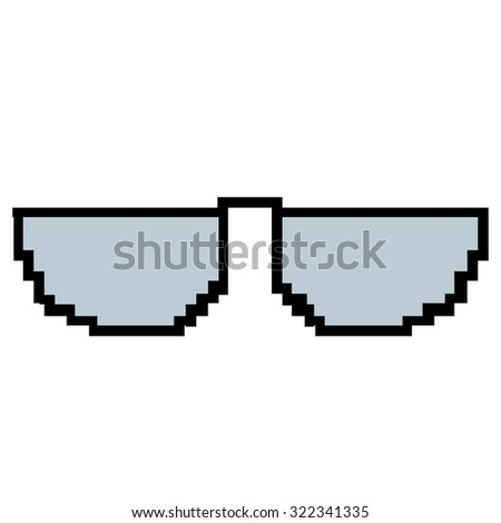 d518caa585b Isolated 8-bit icon on a white background  322341335 · Dealt with it funny  pixelated sunglasses. Pair of 8bit style sunglasses vector icon. Stock