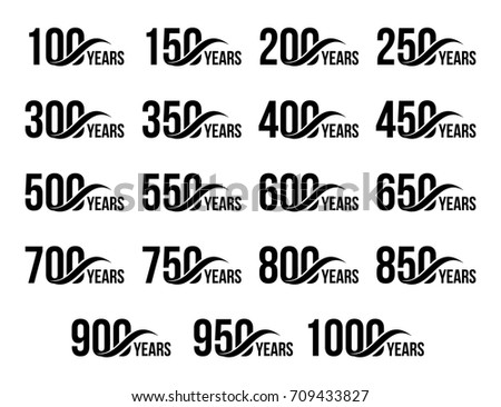 isolated black color numbers