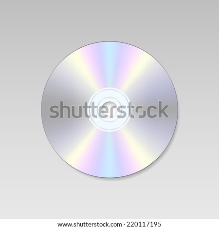 isolated Blank Compact disc CD or DVD (vector)