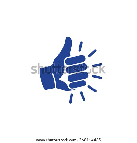 isolated blue vector gesture