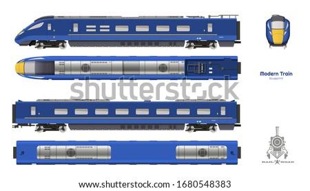 isolated blueprint of blue