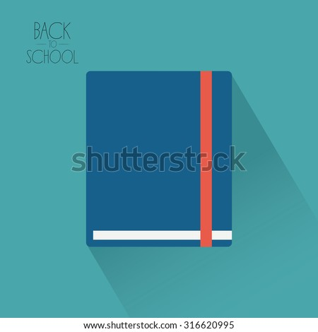 Isolated book on a colored background with text Stockfoto ©