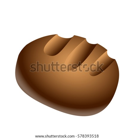 Isolated bread on a white background, Vector illustration #578393518