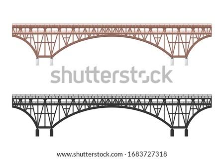 isolated bridge black