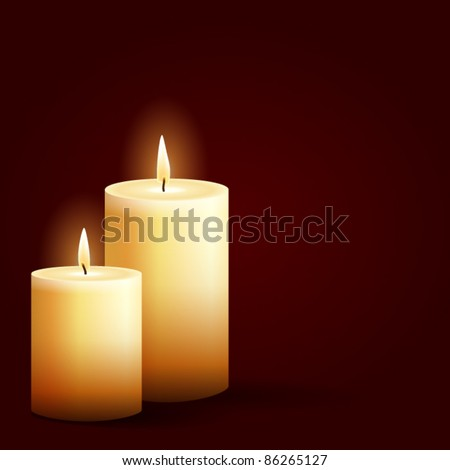 isolated burning candles on
