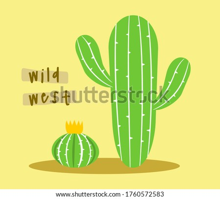 isolated cactus vector