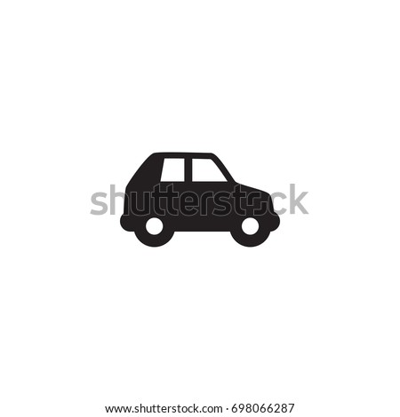 Isolated Car Icon Symbol On Clean Background. Vector Automobile Element In Trendy Style.