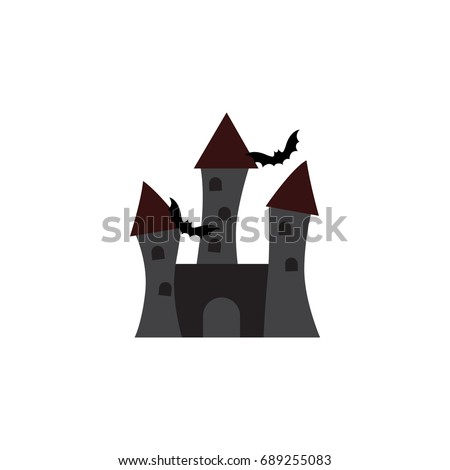 isolated castle flat icon