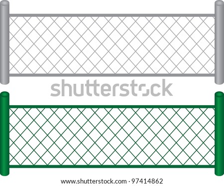 isolated chain linked fences