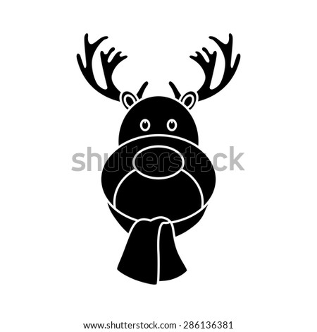 isolated christmas icon on a