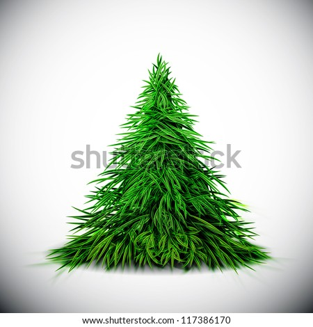 Isolated Christmas tree. Eps 10